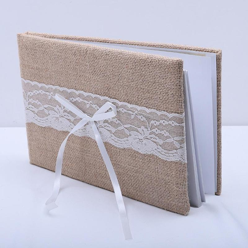 Wedding Guest Book ,Burlap Wedding Guestbook,Rustic Engagement Anniversary Guestbook,Vintage Sign Guest Books Burlap Letter
