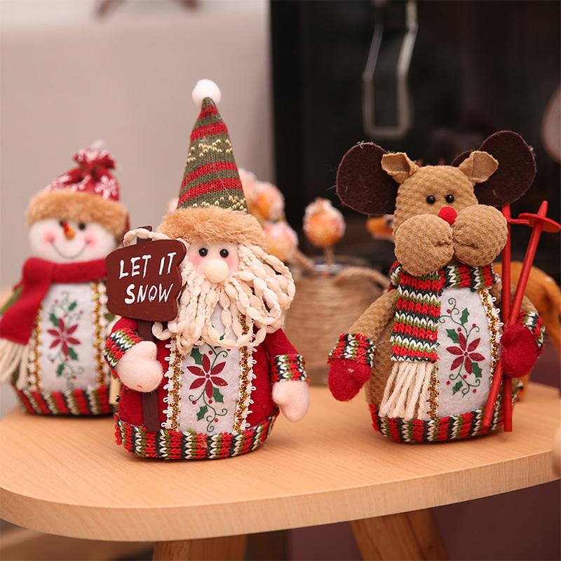 Christmas snowman ornaments Christmas Decorations for Home New Year scarf doll Santa Claus Desktop Decorations Navidad Natal (3)