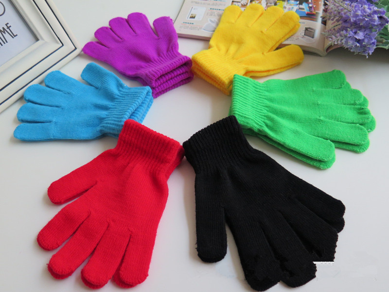 Fashion Children's Kids Magic Gloves Gloves Girl Boys Kids Stretching Knitting Winter Warm Gloves Choosing Colors