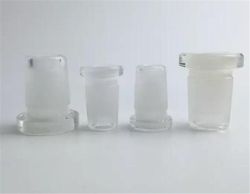 18mm 14mm 10mm Maschio Femmina Vetro Drop Down Adattatori di vetro Riduttore Extender Connettore Clear Glass Bong Raccordi