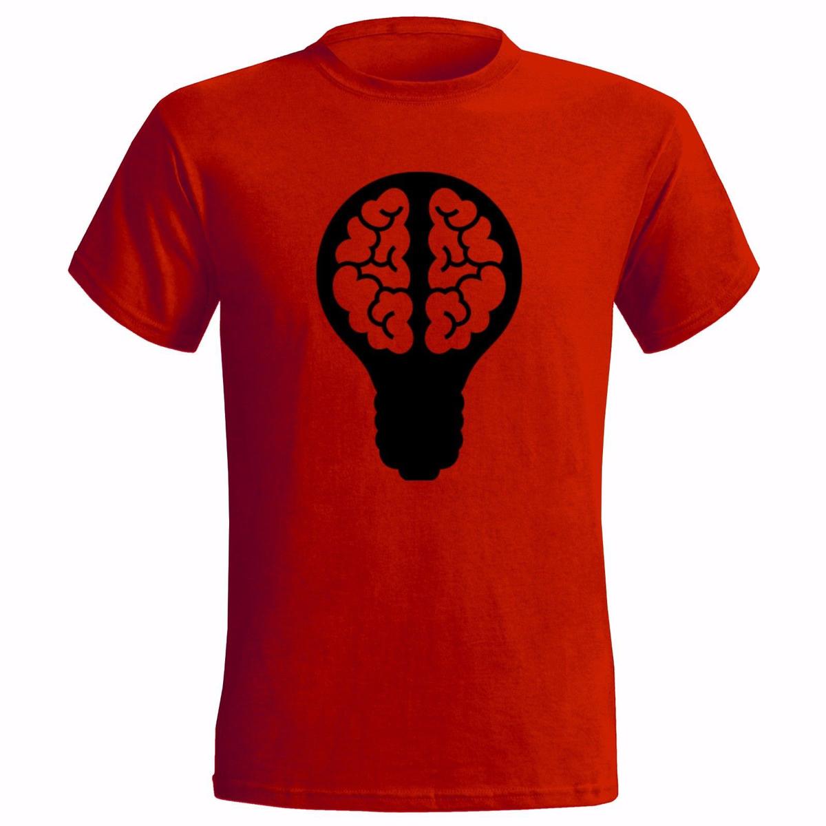 LIGHT BULB BRAIN DESIGN ART MENS T SHIRT IDEA THOUGHT THINKING FREEDOM IDEOLOGY tshirt hot new fashion top shirts