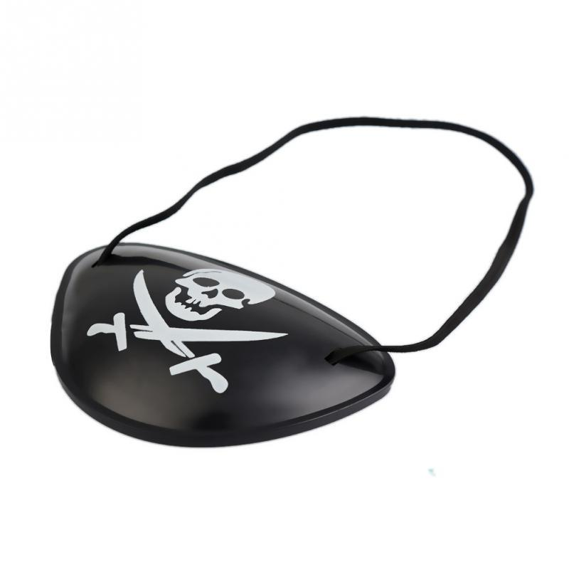 Halloween costume Decoration Fancy Dress party props pirate party supplies pirate eye patch Skull Cosplay