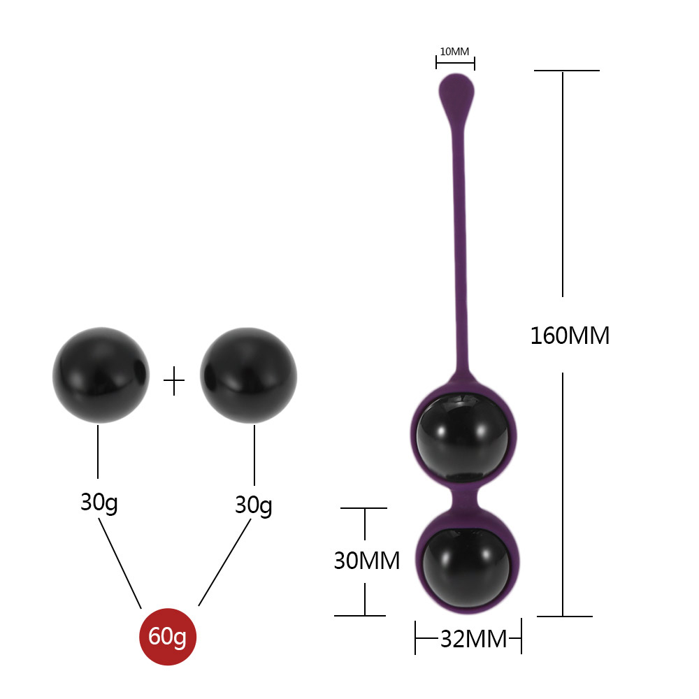 Silicone Glass Kegel Balls Vaginal Balls for Women Sex Toys Ben Wa Balls Vibrator Vagina Beads Tight Exercise Dumbbell Trainer Y18102305