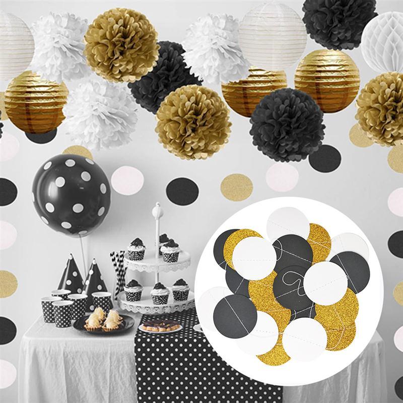 티슈 페이퍼 Pom Poms 꽃 제등 제등 벌집 볼 및 폴카 점 종이 갈 랜드 웨딩 파티 장식