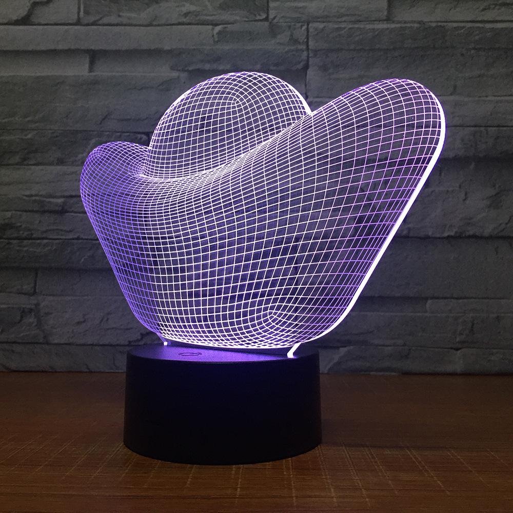 Creative 3D regalo luce di notte della lampada lingotto d'oro della luce Lampada da comodino Alimentazione USB Decorazione Camera NightLight Dropshipping