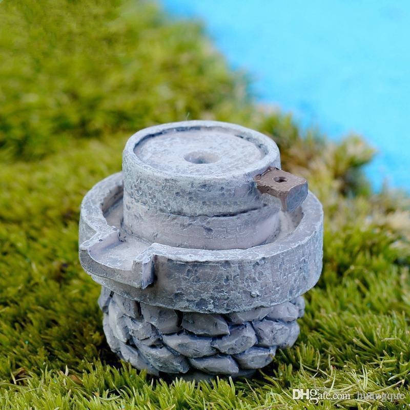 gnome garden decor.htm 2020 limited sale mini resin simulation stone mill fairy garden  2020 limited sale mini resin simulation