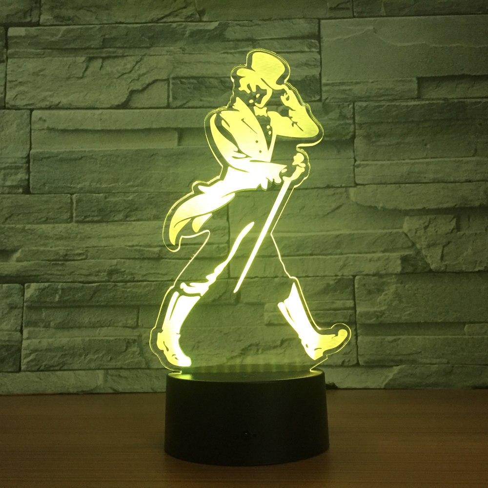 ГОРЯЧИЕ Продажи 3D Изменение Цвета Стерео Видение Лампа с Bluetooth-динамик Акриловые USB Творческая музыка Маленький Ночной Свет для Малыша Подарок
