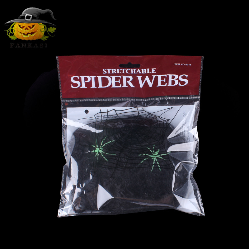 Halloween Scary Party Scene Props White Stretchy Cobweb Spider Web Horror Halloween Decoration For Bar Haunted House 0601816