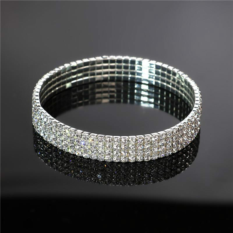Crystal Rhinestone STRETCH CZ Tennis Ankle Chain ANKLET Bracelet SEXY Women Summer Beach Sand Jewelry 1-3 Rows