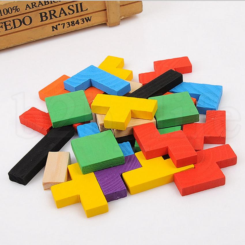 Wood Intellegence Russian Block 27*18cm Kids Early Educational Russian Wood Intellegence Developmental Block Baby Toy OOA5808