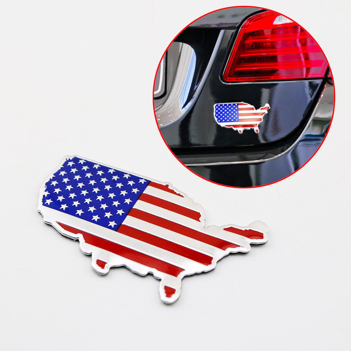2x Car Accessories F1 Flag Emblems Side Rear Decals Fender Sticker For Chevrolet