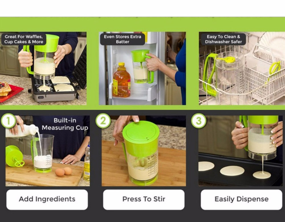 New-Fast-Automatic-Kitchen-mixing-Pancake-Maker-Express-Pancake-Batter-Dispenser-Cupcake-Baking-Essentials-Cake-Batter