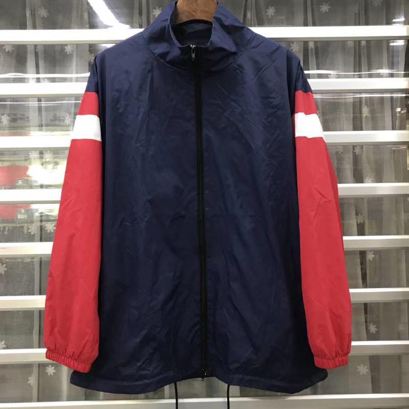 Logo Jacket Men Women Zipper Splice Jackets Fashion Couple Outfit Casual Simple Sport Street Travel Outwear Jacket HFYMJK034