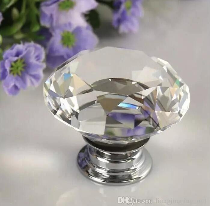 Großhandel Shui40mm Diamant Kristall Schublade Zieht Knöpfe ...