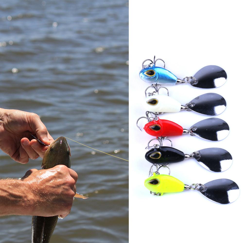 2.5cm/11.5g Vibration Lure VIB Fishing Lures Jig Bait for Fishing Bass Trout Carp Salmon Carp Fishing Tackle De Pesca Y18100906