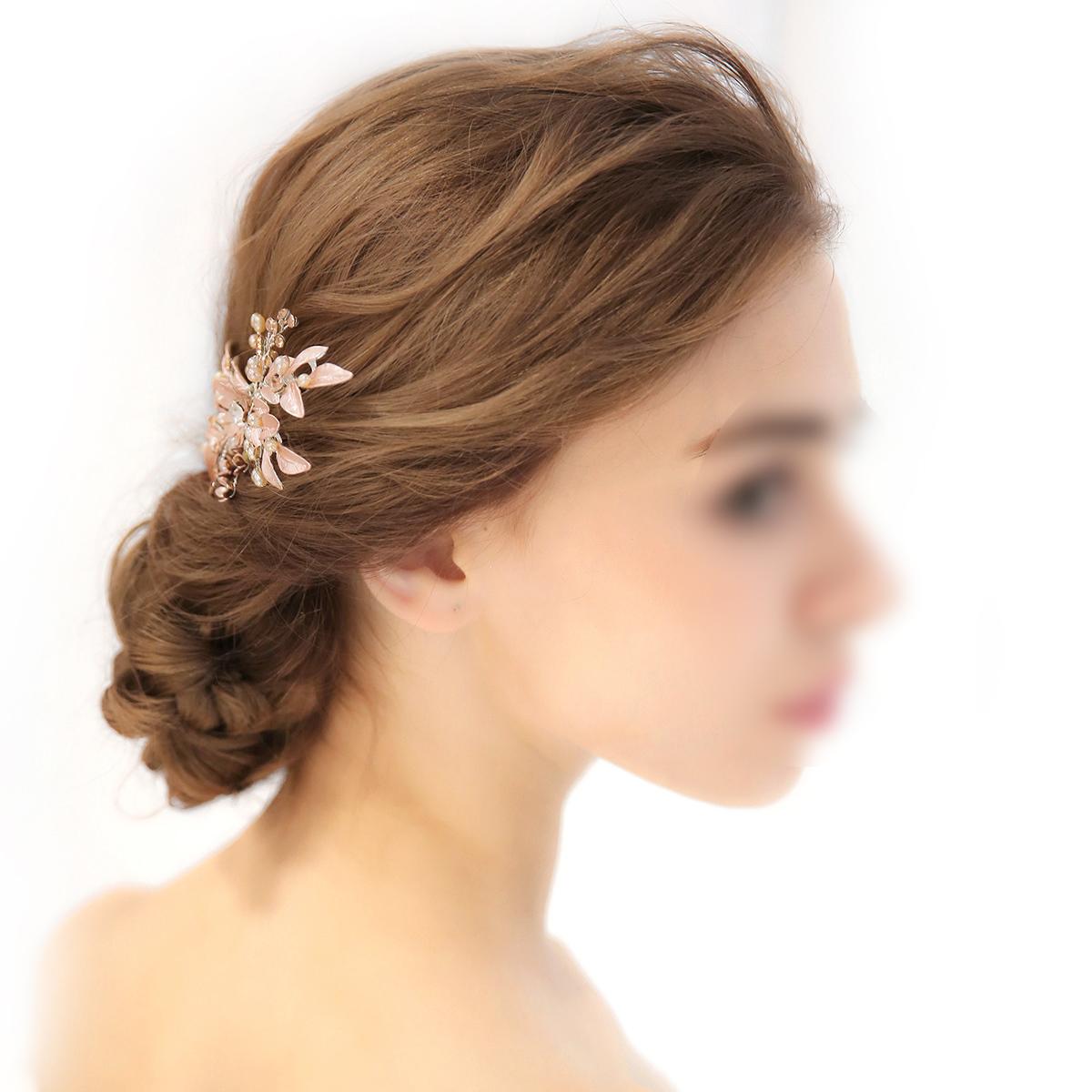 Bride Headdress Hair Clip Crystal Bridal Pearl Hair Accessory Headpiece Headwear for Banquet Prom Engagement Party Wedding C18110901