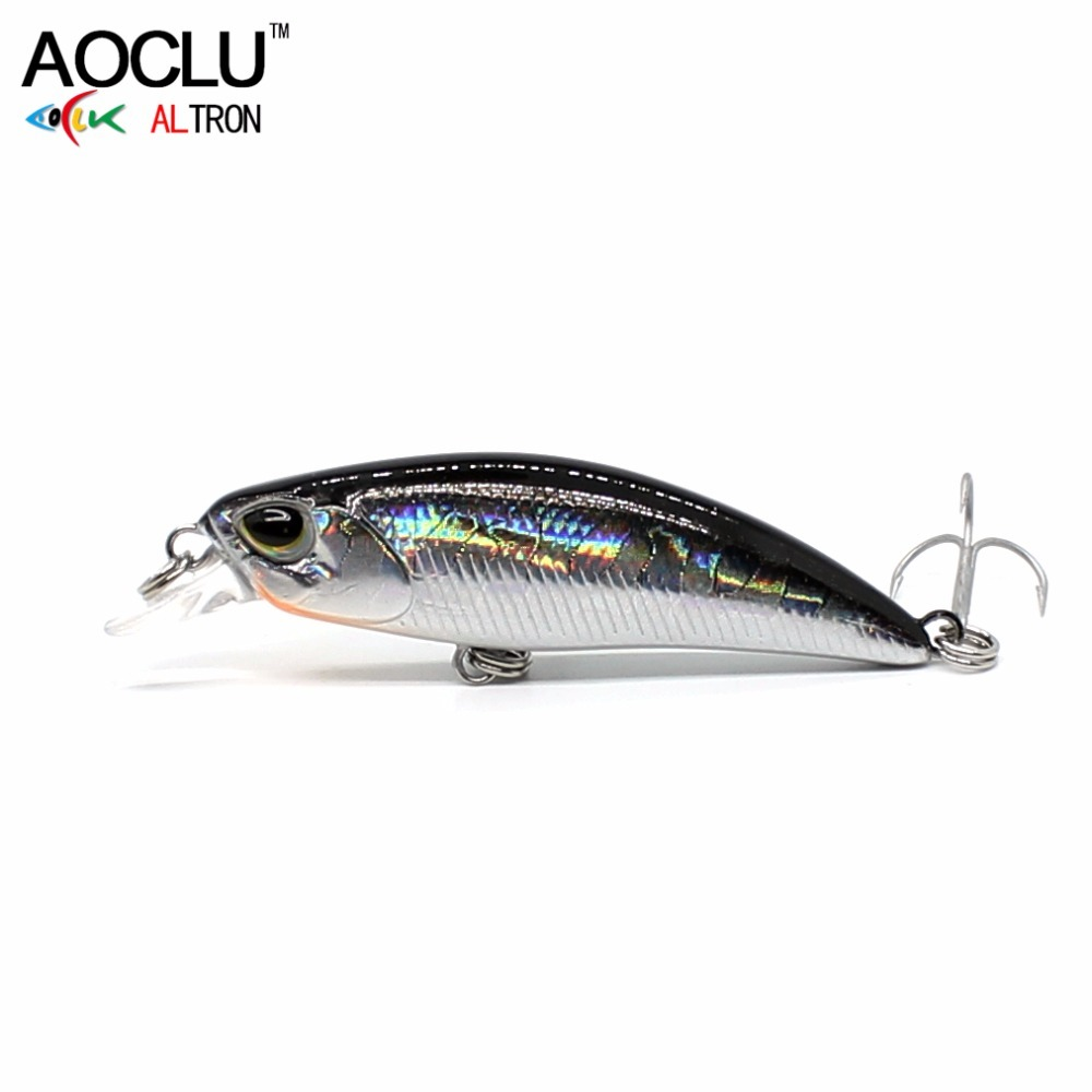 AOCLU wobblers Jerkbait 5cm 4.0g Hard Bait Minnow Crank Fishing lures hooks Bass Fresh Salt water tackle sinking Y1890402