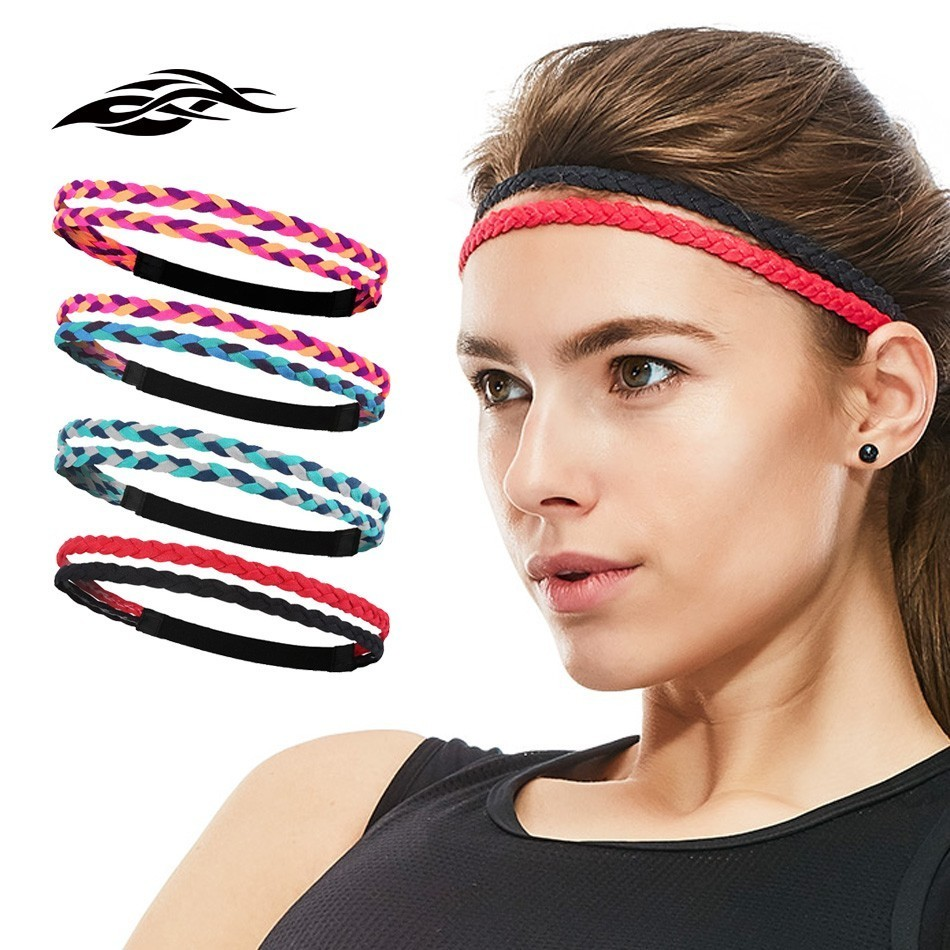 Cerchietto largo elastico lettera delle donne Sport Sudore Yoga Palestra Band Hairband Stretch