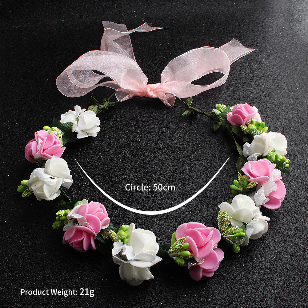 New bridal tiara Beautiful bridesmaid garland decoration Fashion seaside wedding accessories Hair band wholesale