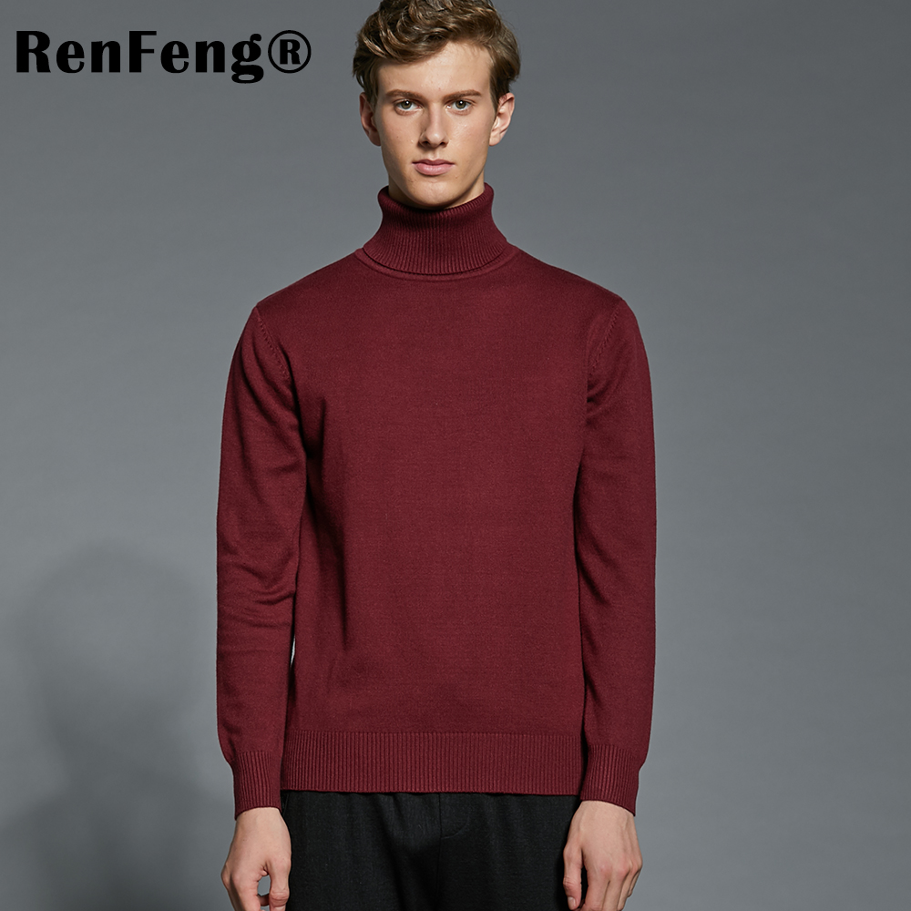 Winter Thick Warm Cashmere Sweater Men Turtleneck Mens Sweaters Plus Size Pullover Man Classic Wool Knitwear Thermal Pull Homme (9)