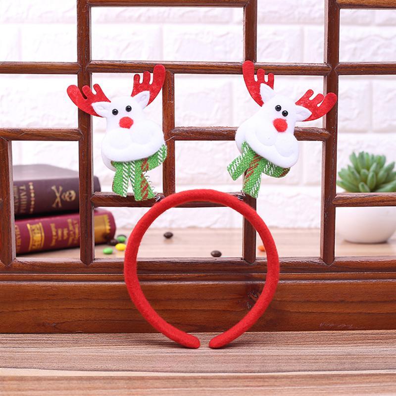 7 шт. рождественские ободки милый мультфильм Санта снеговик олень медведь Xmas декор головы обруч подарок лентой для детей взрослые дети