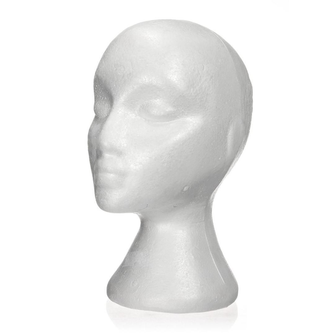 Femminile Styrofoam Schiuma Manichino Manichino Testa Modello Parrucche Occhiali