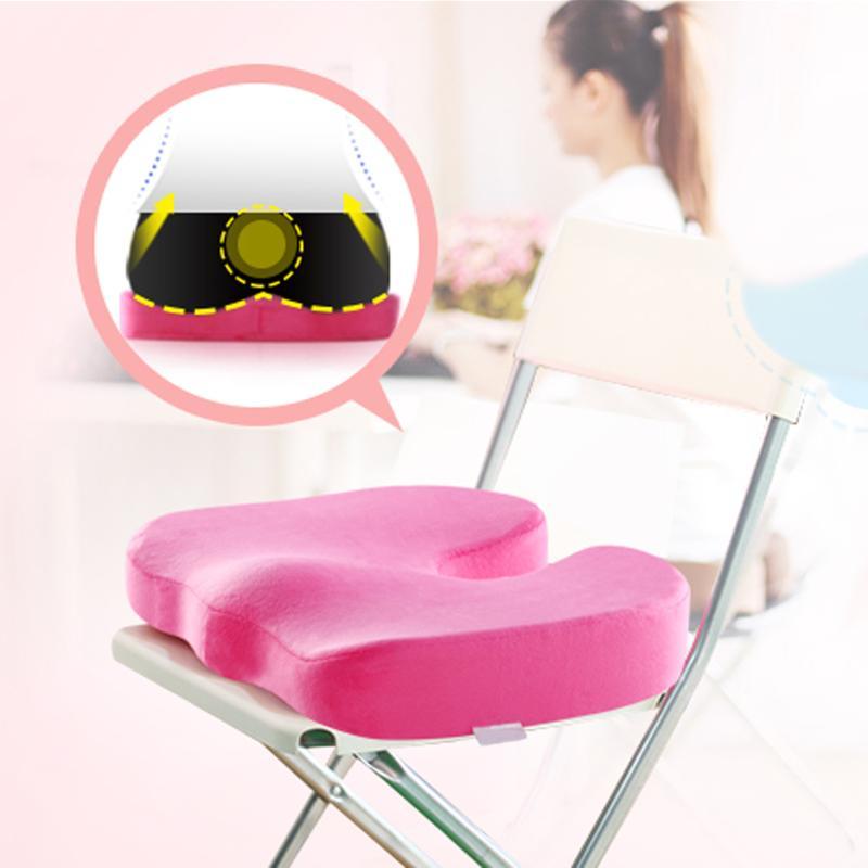 Travel Coccyx Seat Cushion Orthopedic Memory Foam U Seat Massage Chair Cushion Pad Car Office Massage Cushion 45 x 35 x 7 cm
