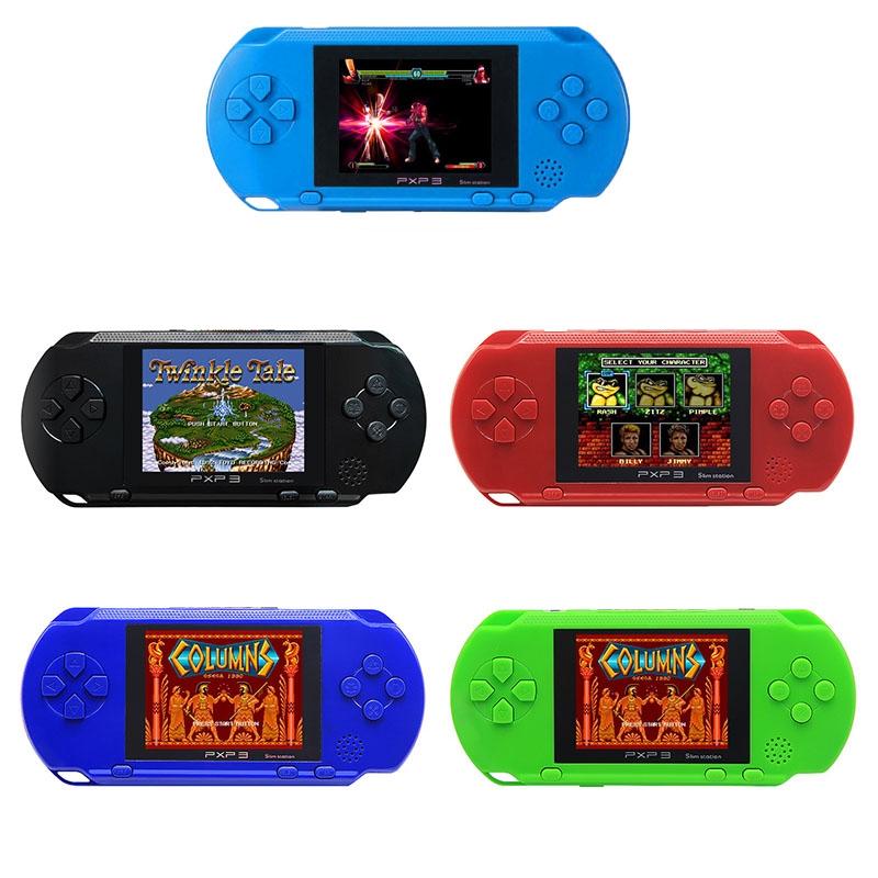 Sıcak Mini Taşınabilir PXP3 Oyun Video Konsolu TV-Out Klasik Oyunlar Ince Istasyonu 16 Bit Konsol Cep Oyunları Oyuncu Xmas En Iyi Hediye Ücretsiz Kargo