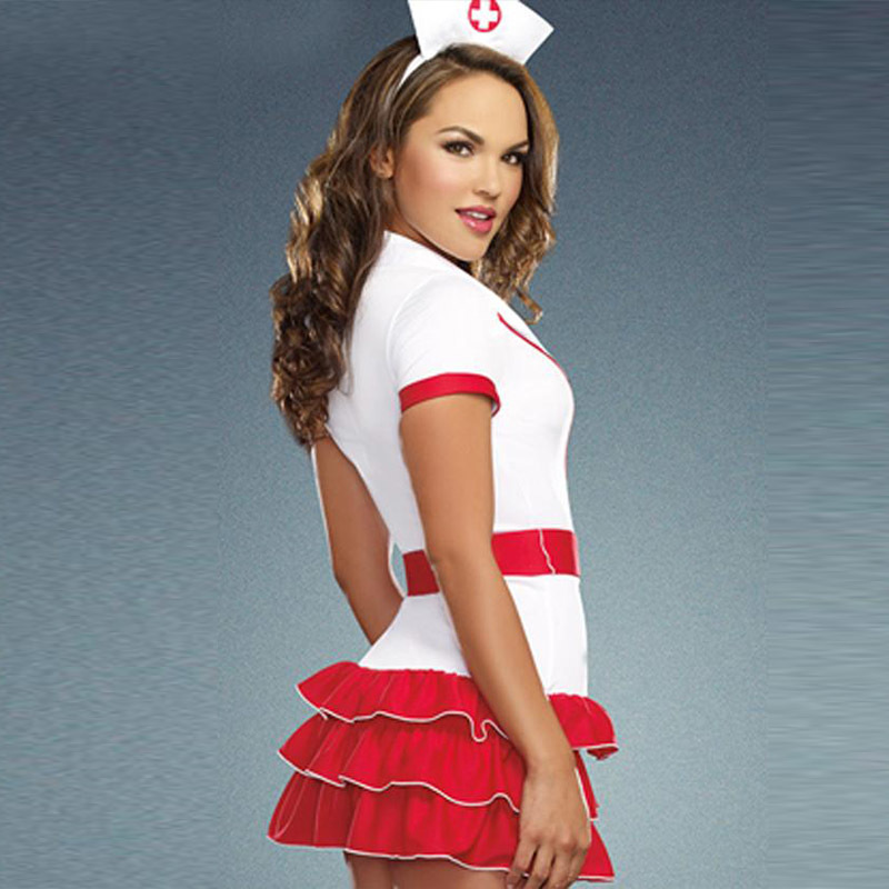 Naughty Nurse Costume For Women Nurse & Doctor Fancy Party Dress Sexy Hospital Hottie Red Nurse Uniform Outfits Cosplay (4)