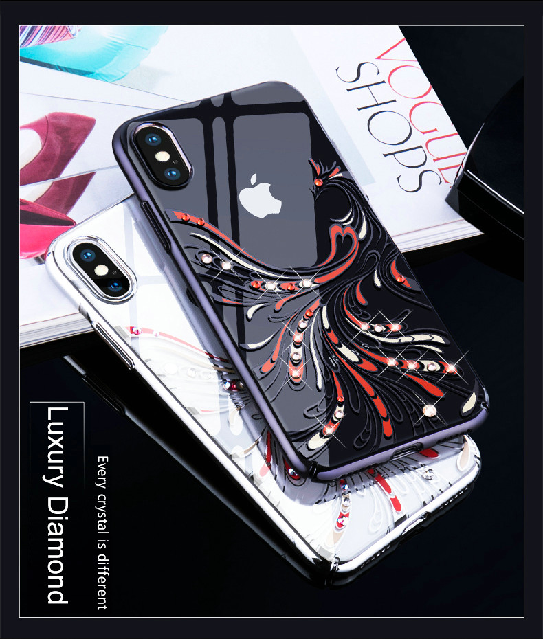KINGXBAR Cover for iPhone Xs Cover Luxury Transparent Case for iPhone Xs Max Case Crystals from Swarovski for iPhoneXs Coque (2)
