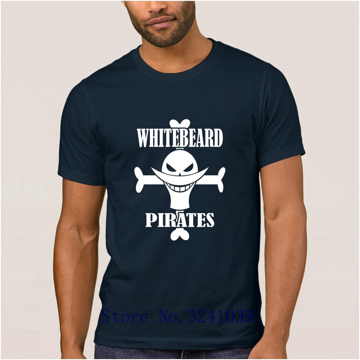 La Maxpa Custom Great whitebeard pirates mens t shirt 2017 Graphic One Piece Janpanese Anime t-shirt for men Leisure tshirt