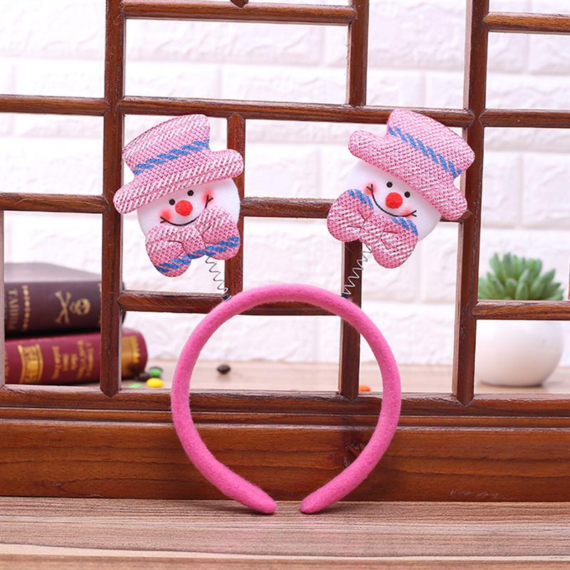 7 pezzi di Natale Fasce Cute Cartoon Santa Snowman Deer Bear Xmas Decor Head Hoop regalo Hairband bambini Adulti bambini