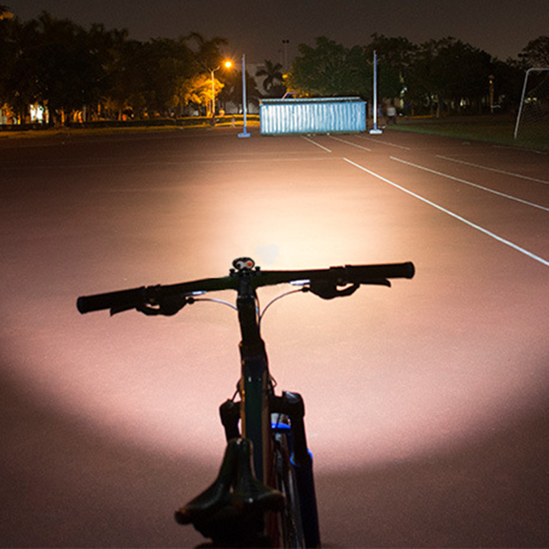 wholesale Bicycle Light 2000 Lumens T6 LED Waterproof Rechargeable Bicycle Front Light Lamp Torch IPX6 Wide Floodlight Bike Light