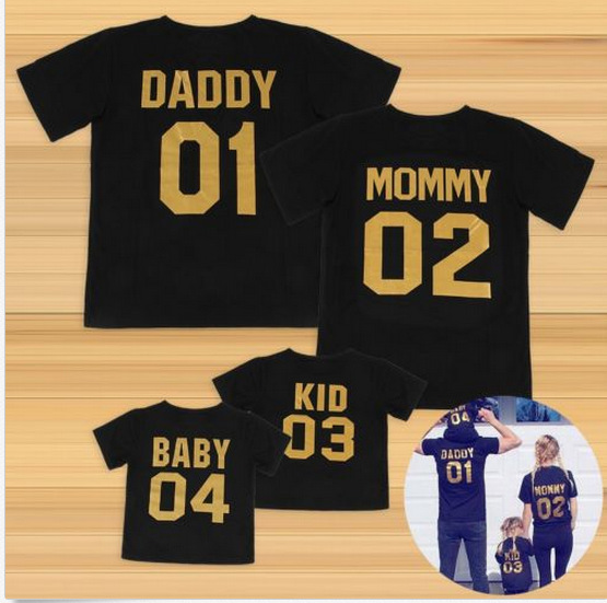 Graffity COOL DAD COOL BABY Daddy and Baby Matching T-Shirt and Bodysuit Set