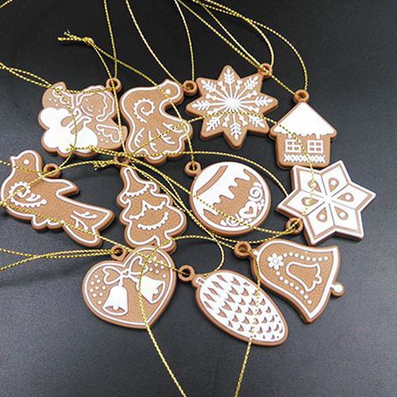 Polymer Clay Deer Snowman Doll Chrismas Tree Decorations Pendant Navidad Ornaments New Year Christmas Decorations For Home Y18102909