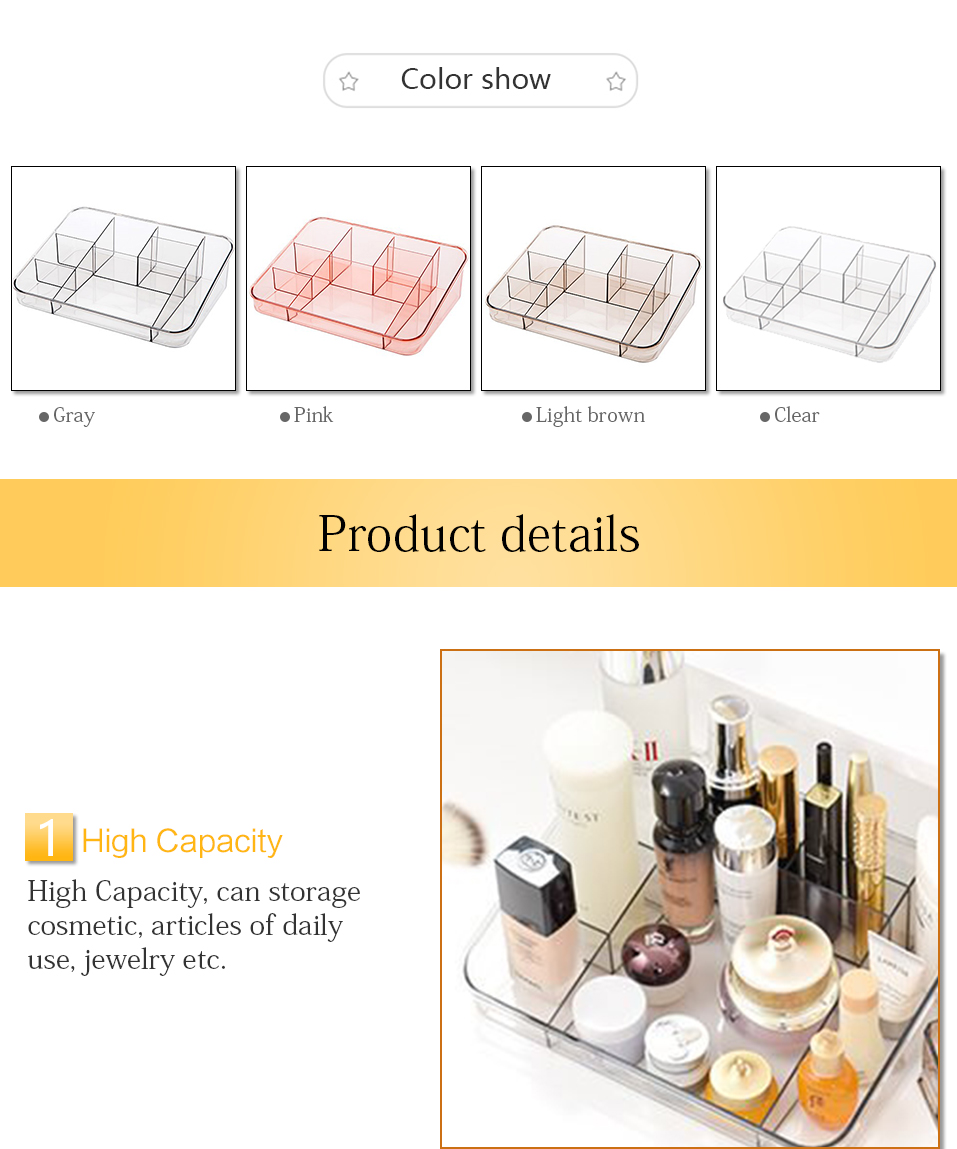 Storage Boxes Clear Acrylic Makeup Organizer Storage Box Case Lipstick Plastic Make Up Organizer For Brushes Jewelry Cosmetic _04