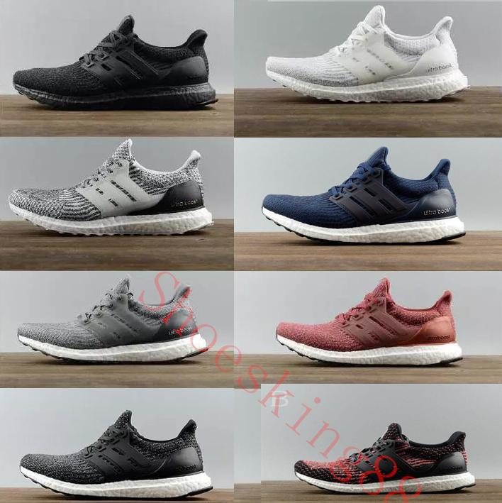 Alta calidad Ultraboost 3.0 4.0 zapatillas para correr Hombres Mujeres  Ultra Boost 3.0 III Primeknit Runs blanco negro para deportes zapatillas  36-47