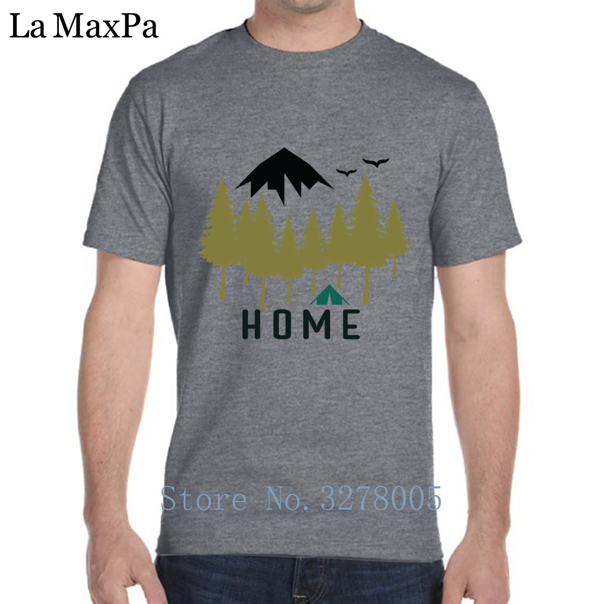 Tshirt For Men Fitness Comfortable Campings Home Men's T-Shirt Letters Cotton Tee Shirt Humour Summer Style Euro Size Famous