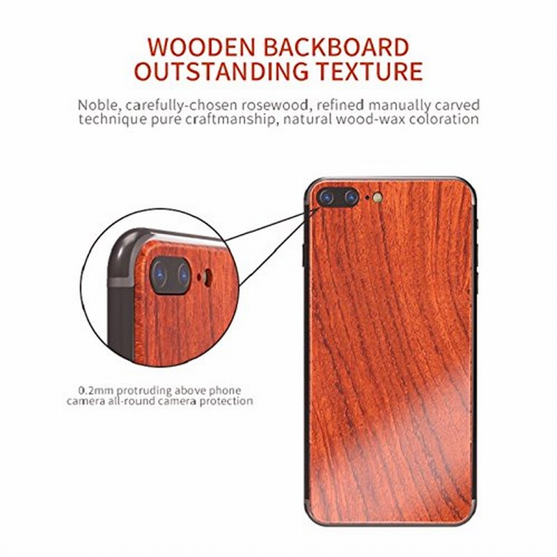 Portefeuille For iPhone 7 Wood Metal Case Aluminium Alloy Protective Bumper Case for Apple iPhone 8 Plus 6 6S Frame Accessories (6)