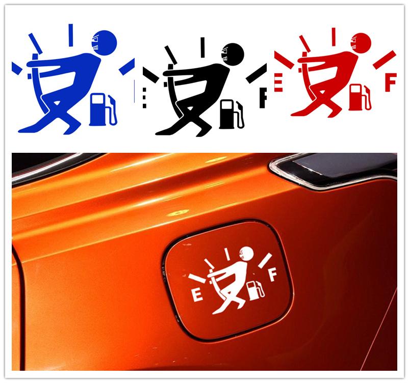 1pc Funny Car Sticker High Gas Consumption Decal Fuel Gage Empty Vinyl 10CM*14CM