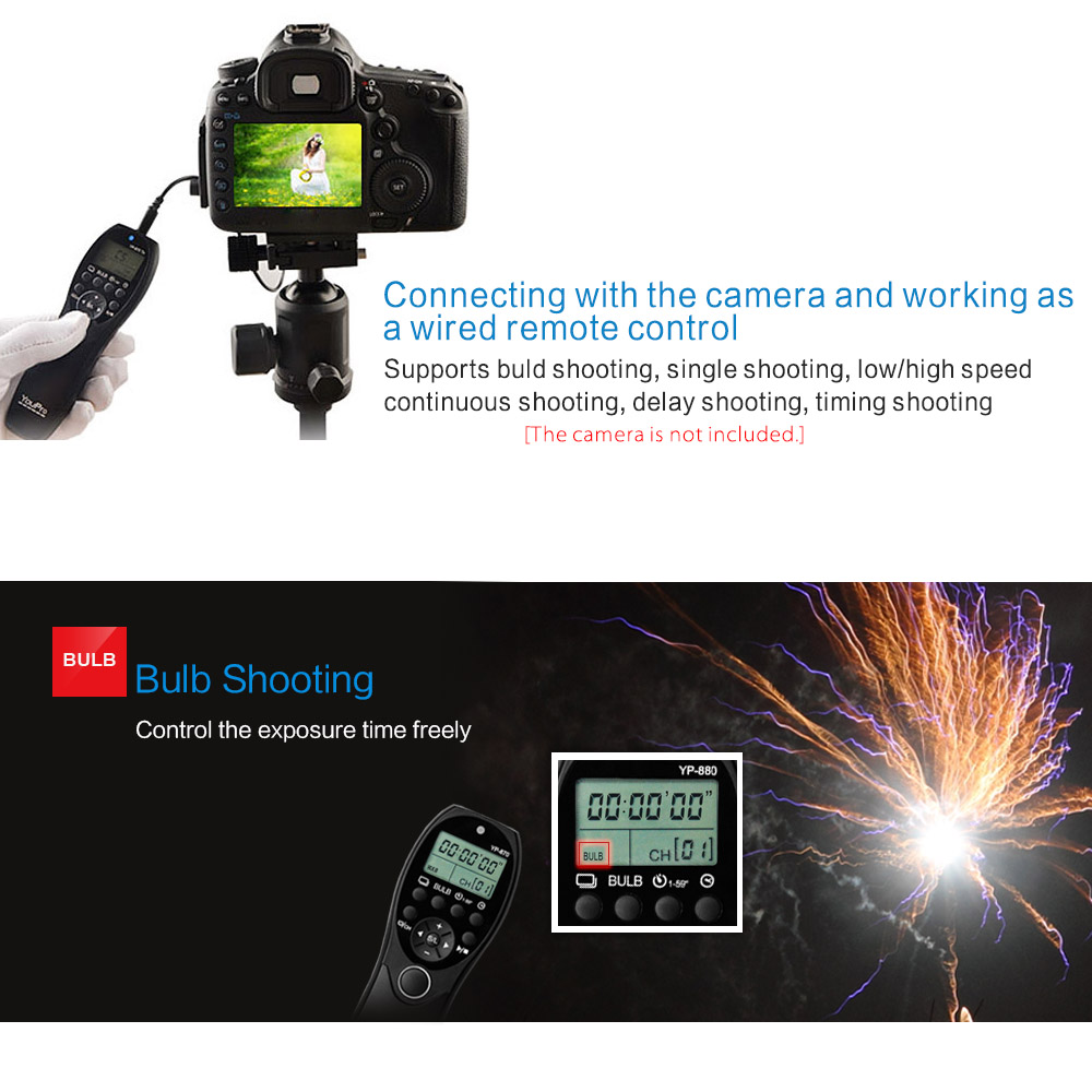 wholesale YP-880 S2 Camera Wired Shutter Release Timer Remote Control LCD Display for Sony A58 A7R A7 A7II A7RII A7SII A7S ect DSLR