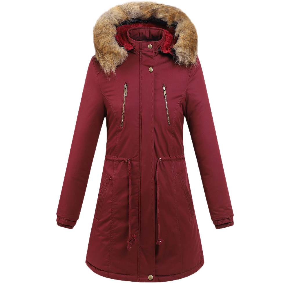 2018 winter parka women Warm Thick Outerwear Hooded Coat Slim Cotton-padded Jacket casual plus size winter coat women jacket