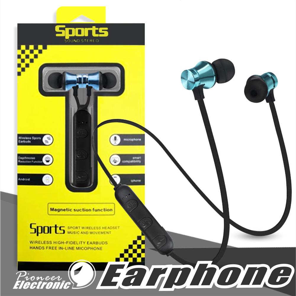 S8/inal/ámbrico Magnetic Bluetooth Earphone Auriculares Deportivos Sin Hilos Est/éreo Bass Music Earpieces con micr/ófono headset