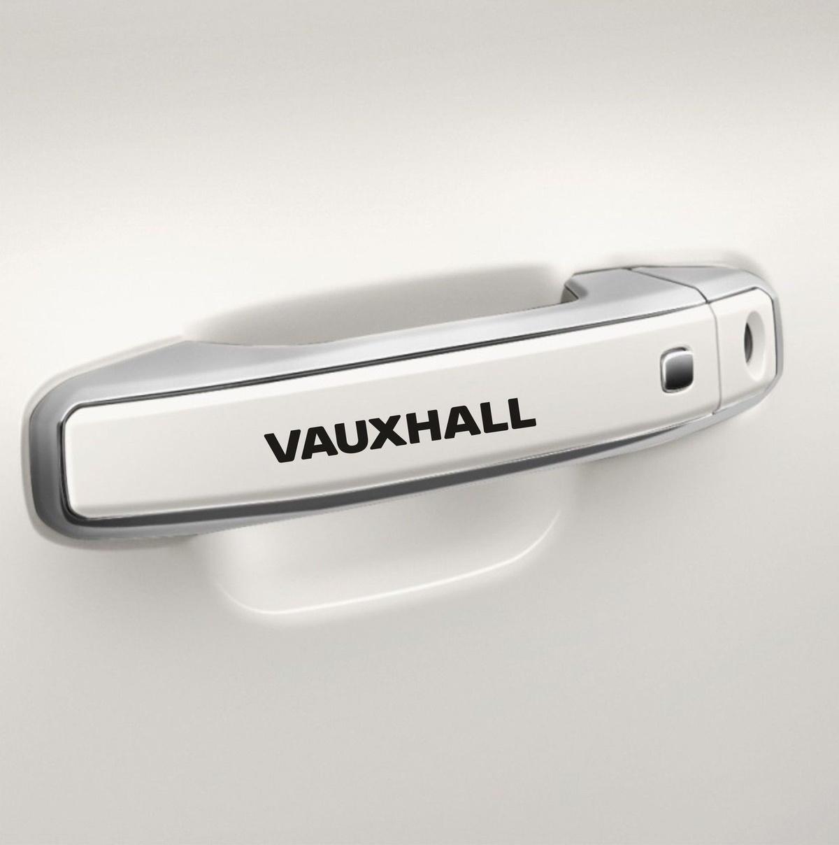 8x For Car Door Handle Sticker fits Vauxhall Sticker Car Body-wear Vinyl N71