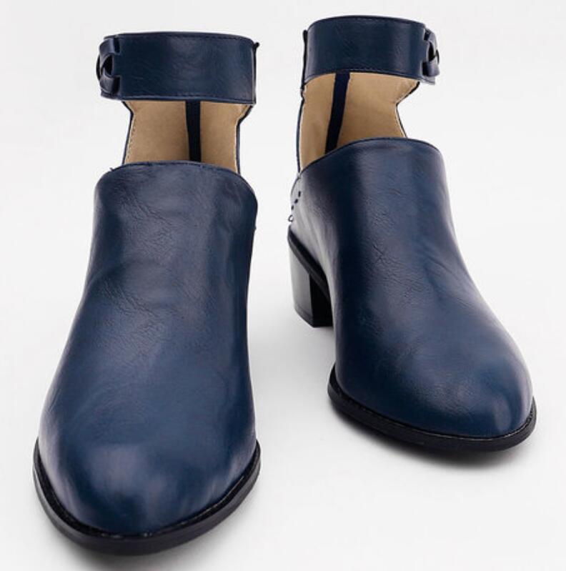 Vintage deri martin ayak bileği çizmeler chaussures femme ete kız sonbahar kış boot kadın ayakkabı kadın bayanlar zapatos mujer TA0098