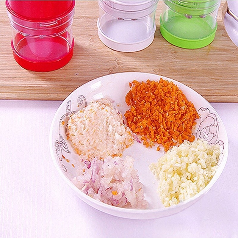 1pc Multi-functional Hand Chopper Plastic Garlic Presses Fruit Salad Vegetable Onion Chopper Cutter Garlic Grinding Kitchen Hand Tool (9)