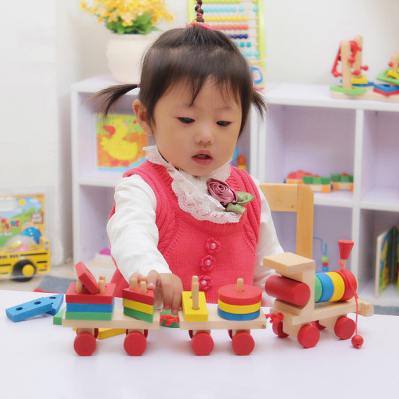 New-Baby-toys-Kids-Educational-toyWooden-Solid-Wood-Stacking-Train-Toddler-Block-Toy-Brand-Children-Gifts