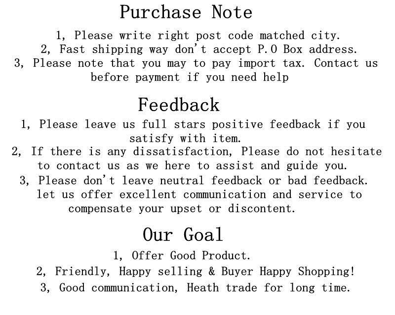 5 purchase guidelines for feedback