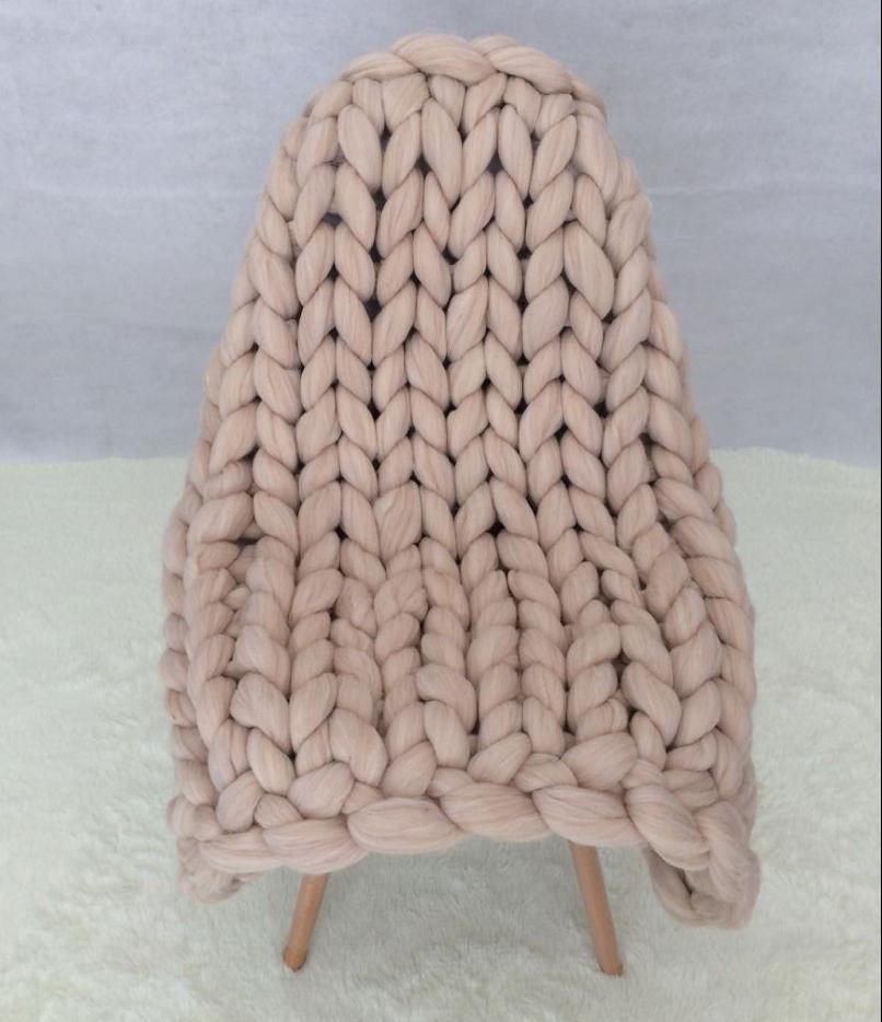 light khaki chunky blanket-41