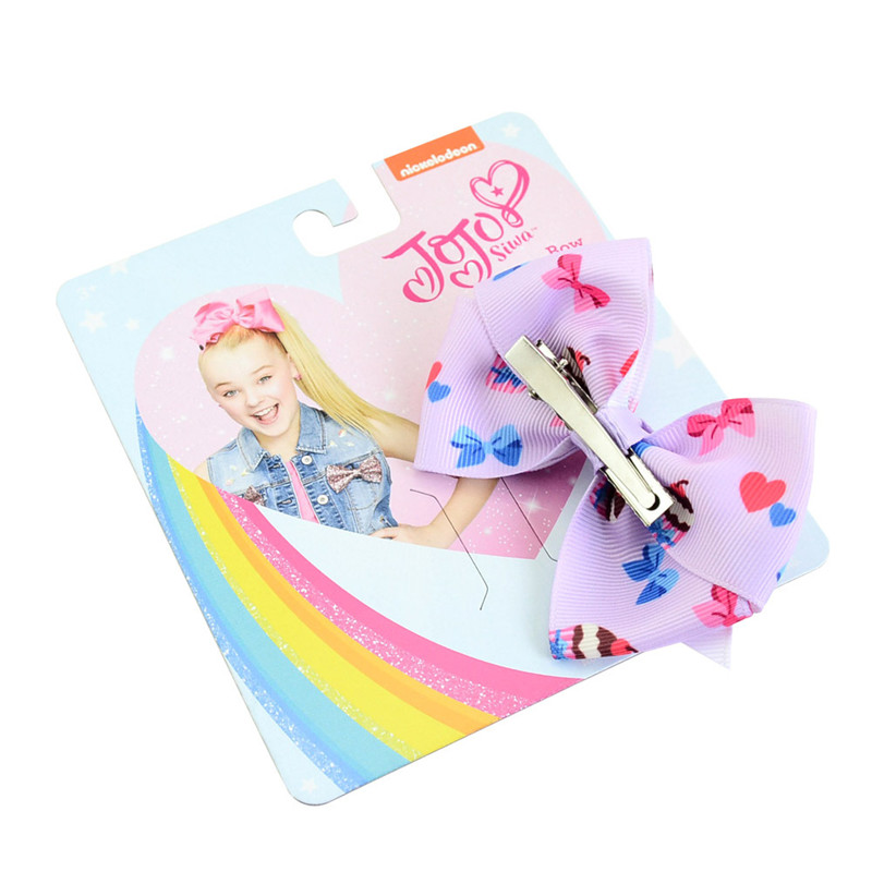 Christmas Baby Girls Jojo Hair Clip Grosgrain Ribbon Bow Hairclip Barrettes For Kids Hairpins DIY Hair Accessory Cute Gifts with Cardboard